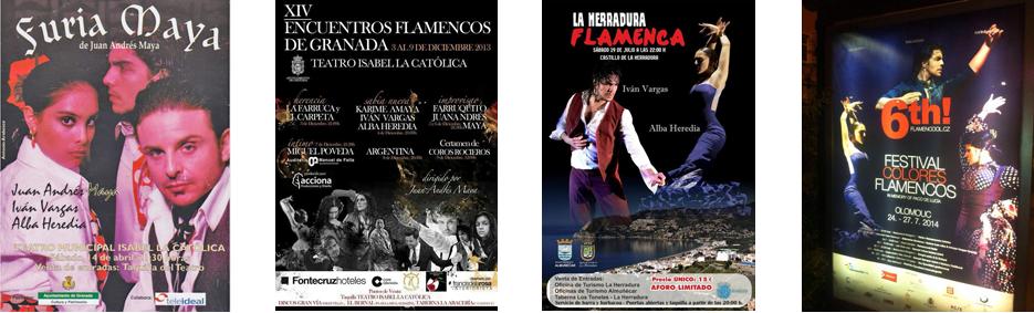 Espectáculos y participaciones Alba Heredia